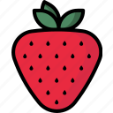 love, lovefruit, strawberry, valentine icon