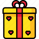 gift, giftbox, love, romantic, valentine icon