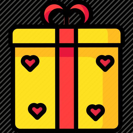 gift, giftbox, love, romantic, valentine icon