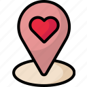 location, map, valentine icon