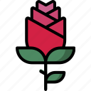 love, proposal, romantic, rose, valentine icon
