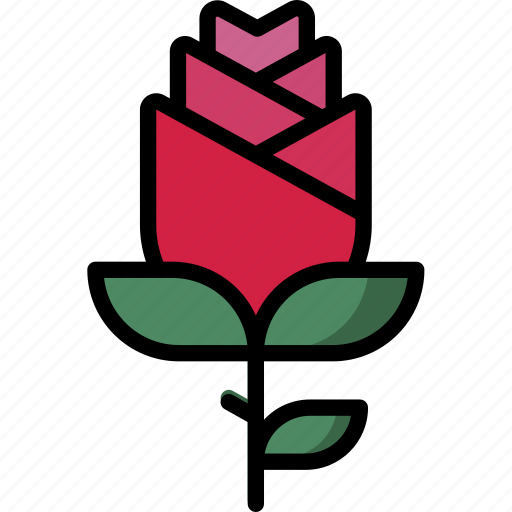 love, proposal, romantic, rose, valentine icon