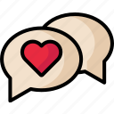 chat, love, message, valentine icon