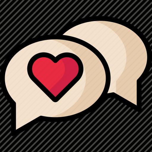 chat, love, message, valentine icon