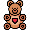 cuddlybear, love, teddy, teddybear, valentine icon