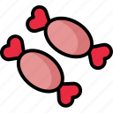candy, chocolate, love, valentine icon
