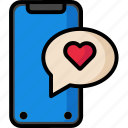 chat, iphonex, love, message, valentine