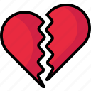 brokenheart, brokenlove, heart, valentine icon