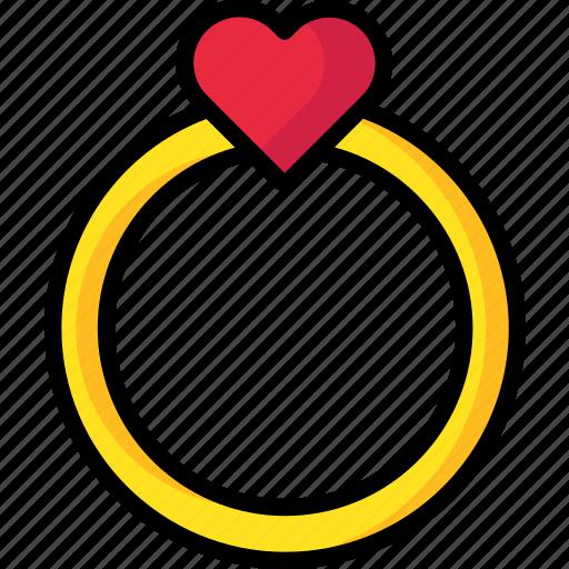 love, proposal, ring, romantic, valentine icon