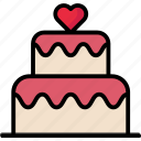 birthday, cake, celebration, dessert, valentine