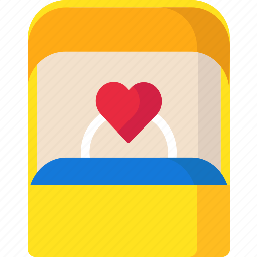Proposal, ring, ringbox, valentine icon - Download on Iconfinder