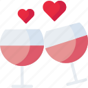 drink, love, romantic, valentine, vine icon