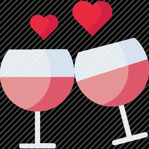 Drink, love, romantic, valentine, vine icon - Download on Iconfinder