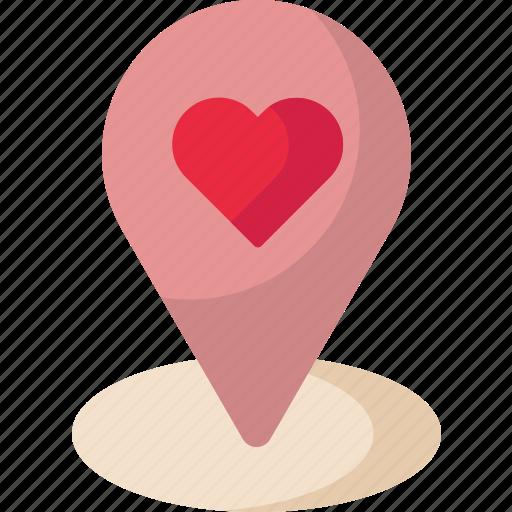 Location, map, valentine icon - Download on Iconfinder