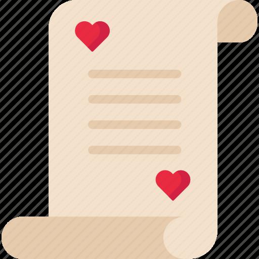 Document, letter, love, loveletter, valentine icon - Download on Iconfinder
