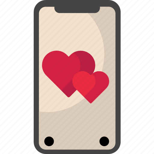 Heart, iphone, iphonex, mobile, valentine icon - Download on Iconfinder
