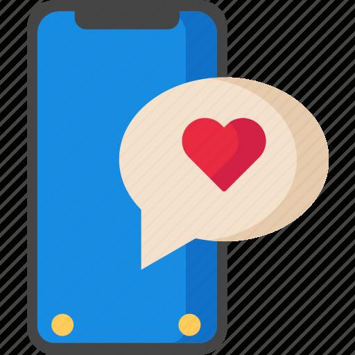 Chat, iphonex, love, message, valentine icon - Download on Iconfinder