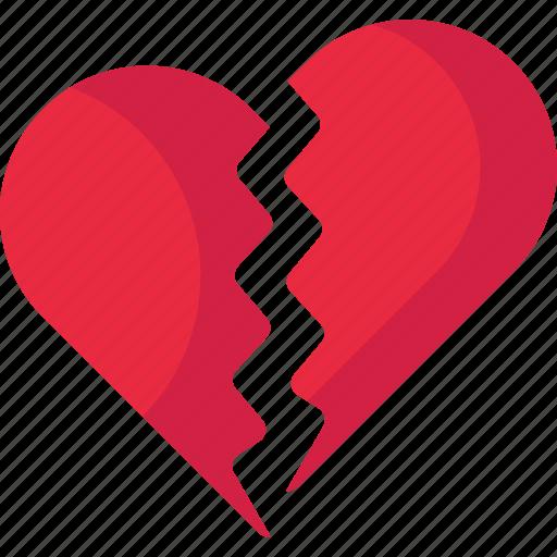 Brokenheart, brokenlove, heart, valentine icon - Download on Iconfinder