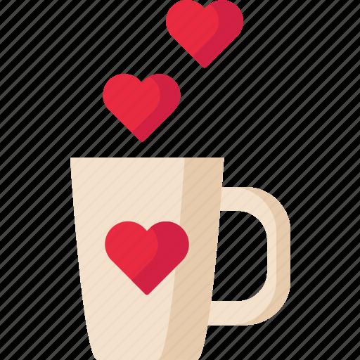 Love, mug, romantic, valentine icon - Download on Iconfinder