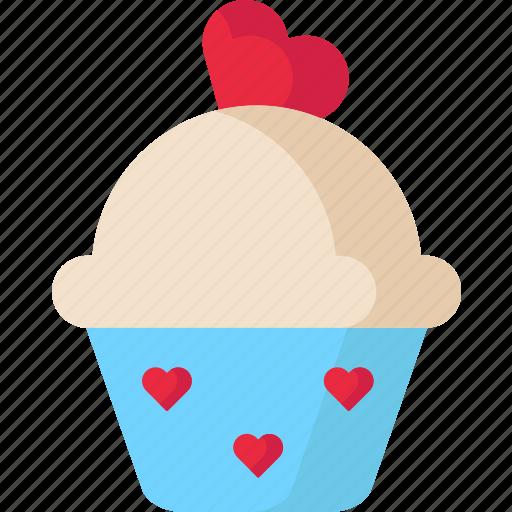 Cake, cupcake, dessert, love, valentine icon - Download on Iconfinder