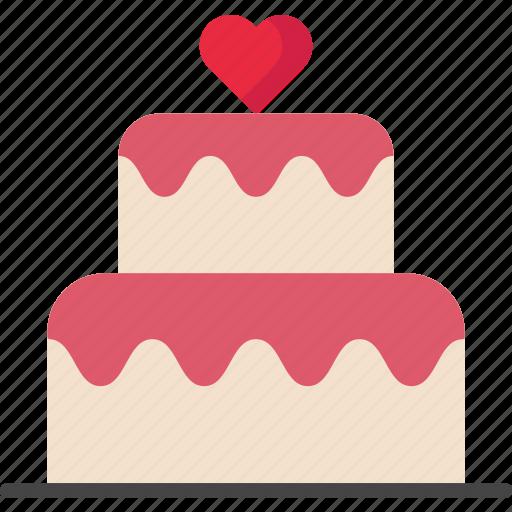 Birthday, cake, celebration, dessert, valentine icon - Download on Iconfinder