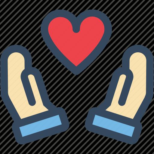 hand, heart, love, sacred, valentine, varlk icon