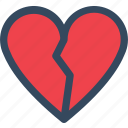 broken heart, heart, heartbreak, varlk icon