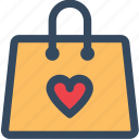 bag, heart, love, valentine, varlk icon