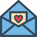 heart, letter, love, mail, valentine, varlk icon