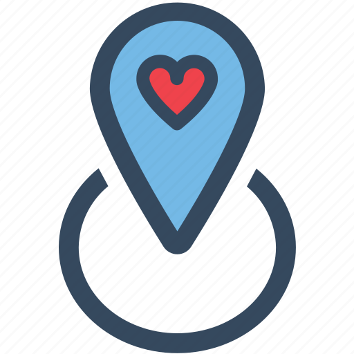 Heart, location, love, map, pin, varlk icon - Download on Iconfinder