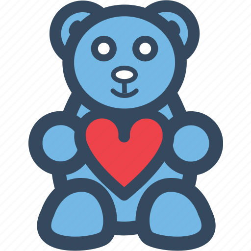 Bear, heart, love, romance, valentine, varlk icon - Download on Iconfinder
