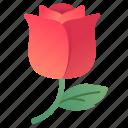 flower, love, rose, valentine, valentines icon