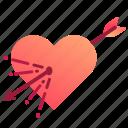 arrow, attraction, cupid, heart, love, valentine, valentines icon