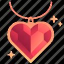 gem, heart, jewel, jewelry, love, valentine, valentines icon