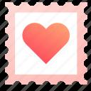 heart, love, stamp, valentine, valentines icon