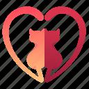 cat, heart, love, pet, valentine, valentines icon