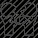broken, heart, love, valentine, valentines