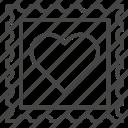 heart, love, stamp, valentine, valentines