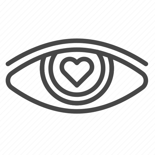 attraction, eye, falling in love, love, valentine, valentines icon