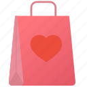 bag, day, february, heart, love, romantic, valentine icon