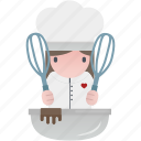 cooking, day, february, heart, love, romantic, valentine icon