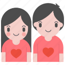 couple, day, february, heart, love, romantic, valentine icon