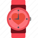 day, february, heart, love, romantic, valentine, watch icon