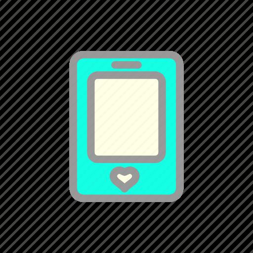heart, love, romantic, smartphone, valentine, wedding icon