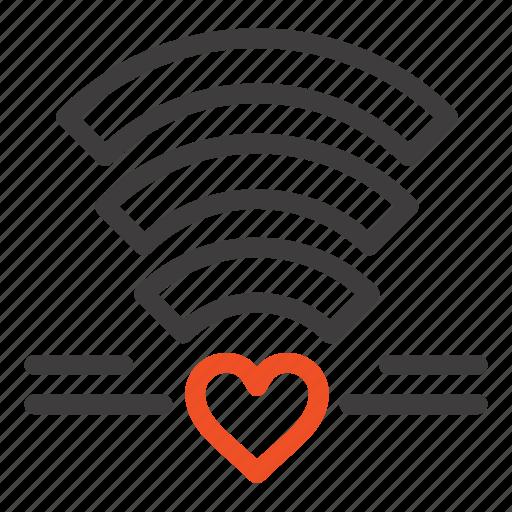 heart, love, wedding, wifi icon