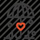 insurance, love, secure, umbrella icon
