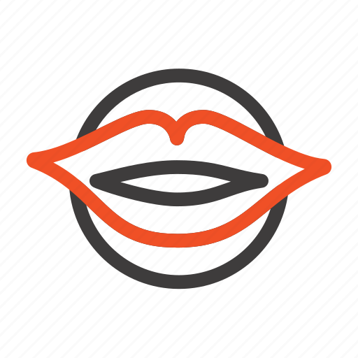 beauty, face, lips, mouth, valentines icon