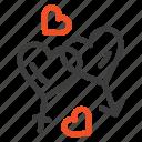 heart, love, man, valentine, women