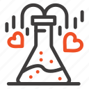 chemical, flask, heart, love icon