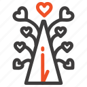 day, heart, love, tree, valentine, valentines icon